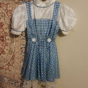 Dorothy costume from Wizard of Oz and Toto